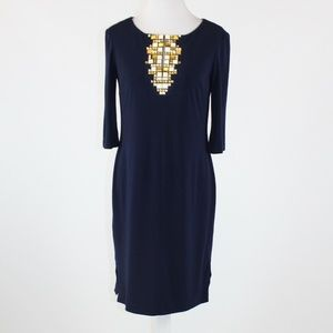 Navy blue ANNE KLEIN shift dress 2